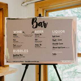 Brunch Wedding Bar Sign