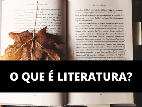 O QUE É LITERATURA