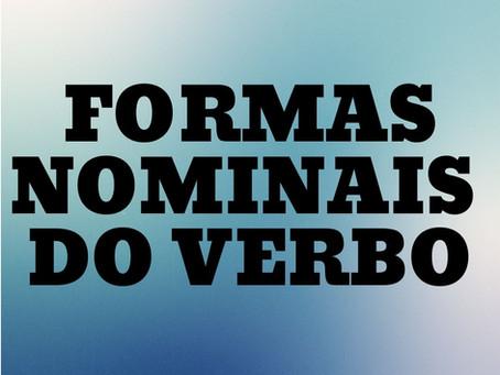 FORMAS NOMINAIS DO VERBO