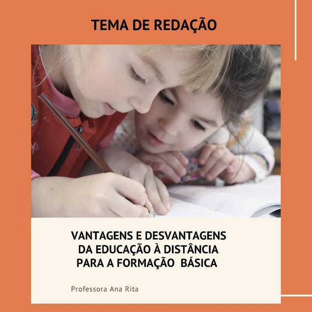 VANTAGENS E DESVANTAGENS DA EDUCAÇÃO À D