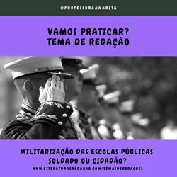MILITARIZAÇÃO DAS ESCOLAS PÚBLICAS: SOLD