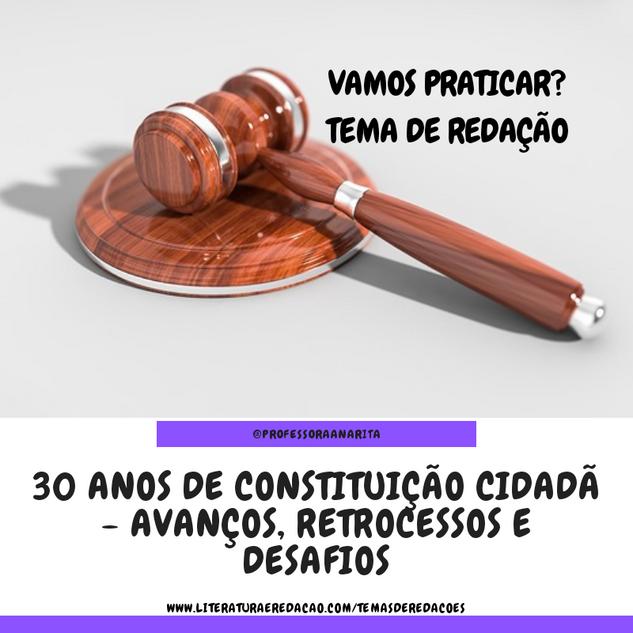30 ANOS DE CONSTITUIÇÃO CIDADÃ - AVANÇOS