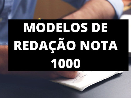 Modelos de Redações Nota 1000