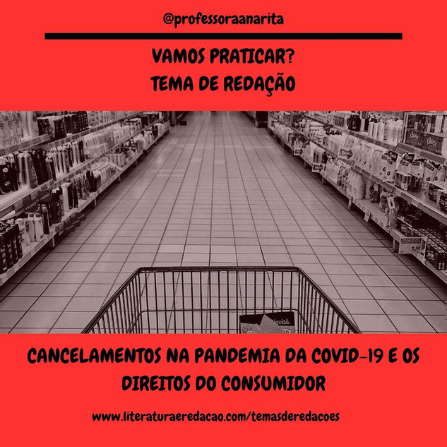 CANCELAMENTOS NA PANDEMIA DA COVID-19 E