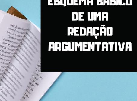 ESQUEMA BÁSICO DE UMA REDAÇÃO ARGUMENTATIVA
