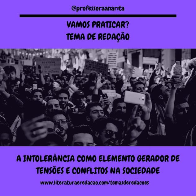 A INTOLERÂNCIA COMO ELEMENTO GERADOR DE TENSÕES E CONFLITOS NA SOCIEDADE