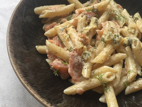 Festive Leftovers: Pasta with Salmon, Cream and Dill