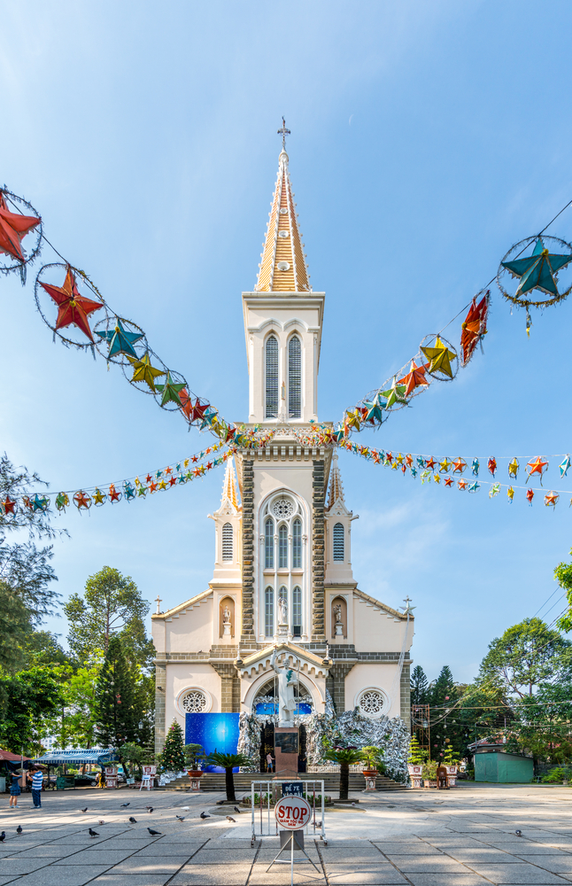 pagodas and churches