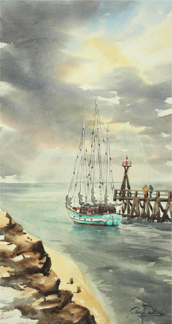 Courseulles-Sur-Mer, 28 cm x 53 cm