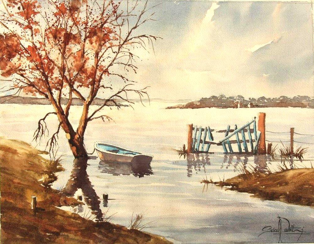 Cotentin, le marais blanc 33 x 43 cm 350