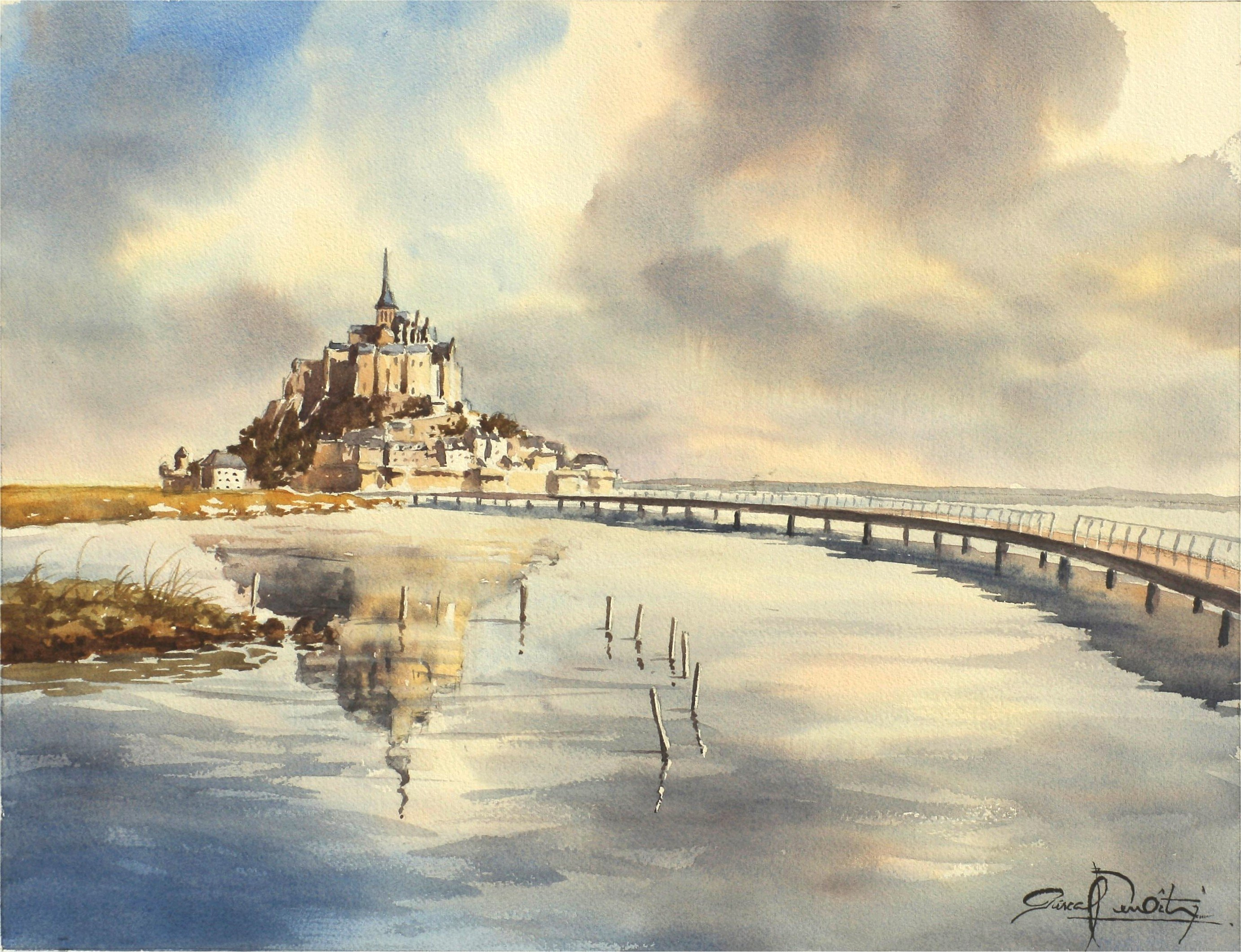 Mont-Saint-Michel, 33 x 43 cm