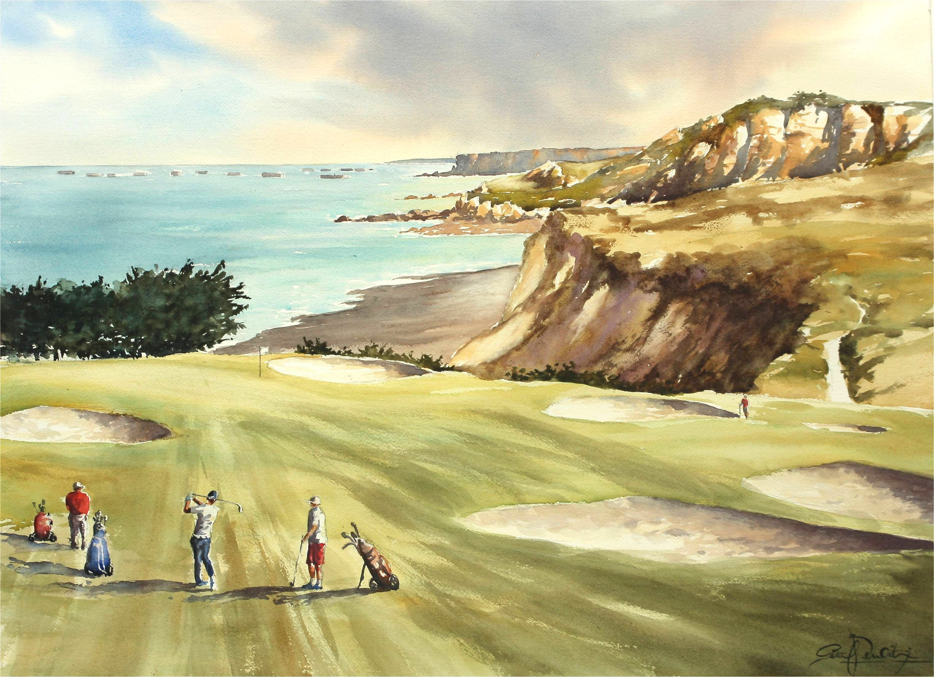 Golf Omaha Beach, 54 x 74 cm