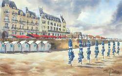 Cabourg les parasols, 33 x 53 cm