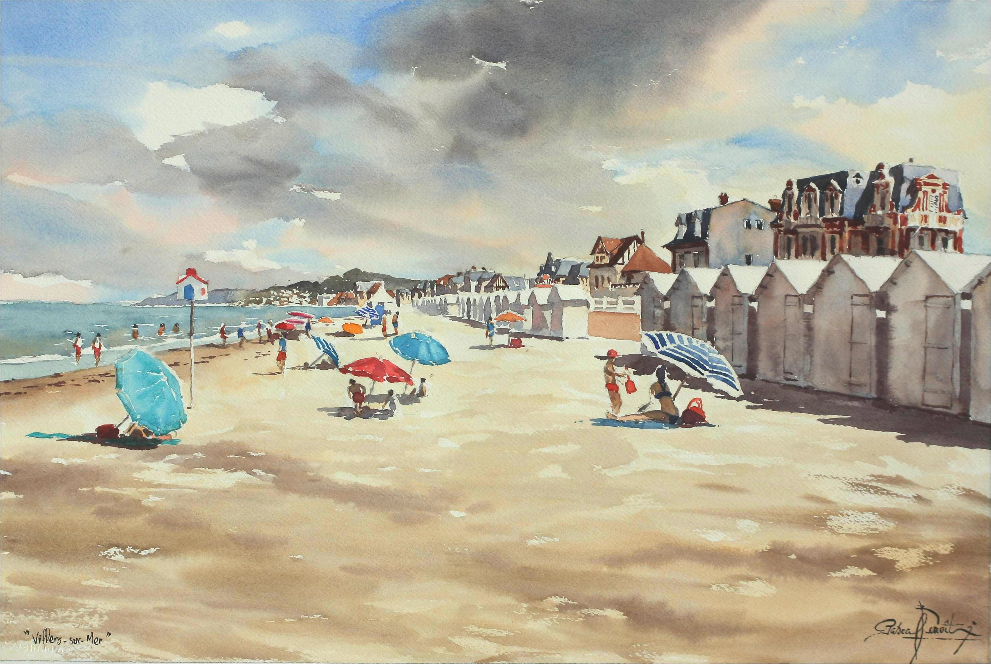 Villers-Sur-Mer, 40 x 60 cm