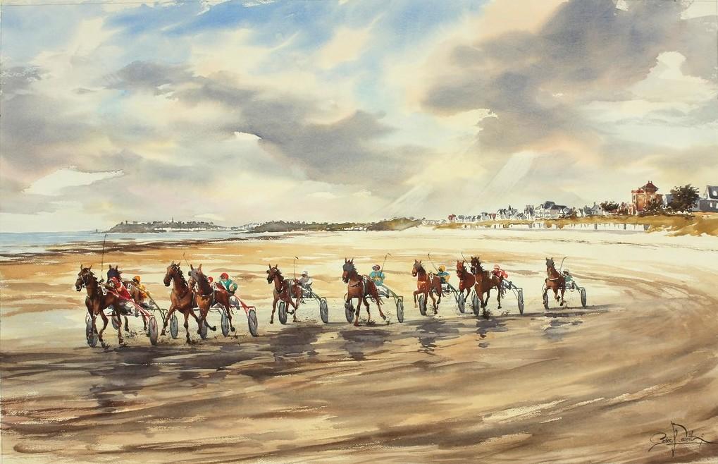 Jullouville courses, 101 x 66 cm