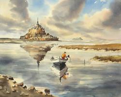 Mont-St-Michel, 35 x 43 cm