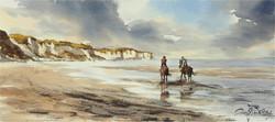 Plage d'Omaha-Beach, 28 x 63 cm