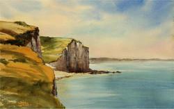 Falaise de Criel-Sur-Mer, 46 x 29 cm
