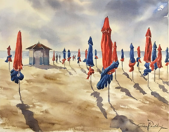 Deauville les parasols, 38 x 48 cm.jpg