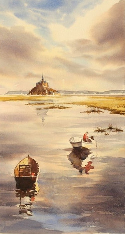 Mont-St-Michel, 28 x 53 cm