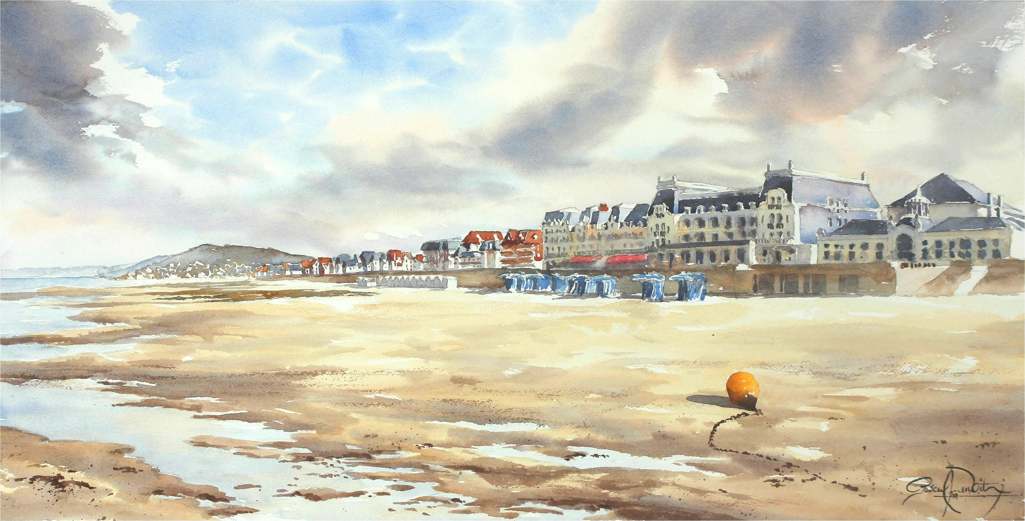 Cabourg, 37 x 74 cm