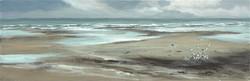 La plage, 20 x 60 cm