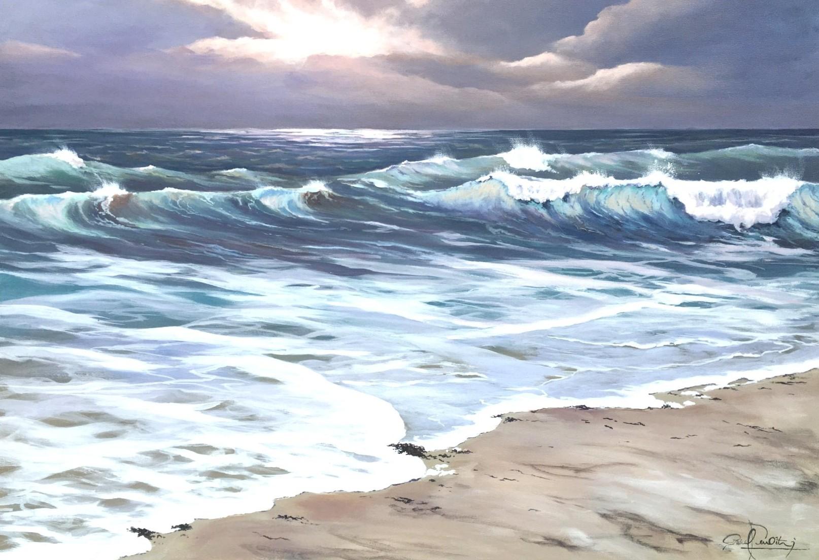 Les vagues 5, 92 x 65 cm