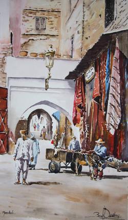 Marrakech, rue des Teinturiers