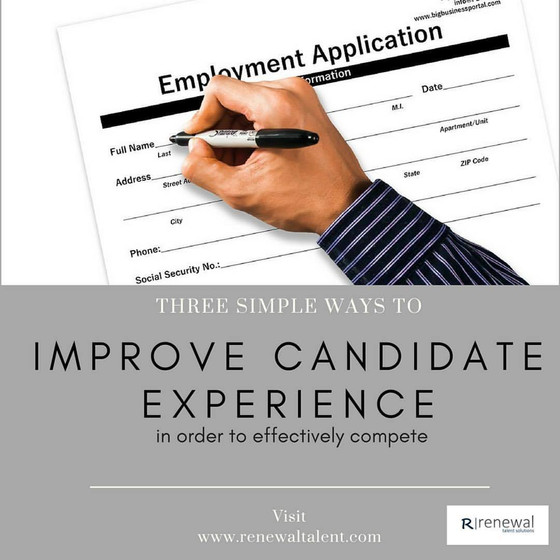 3 Simple Ways to Improve the Candidate Experience