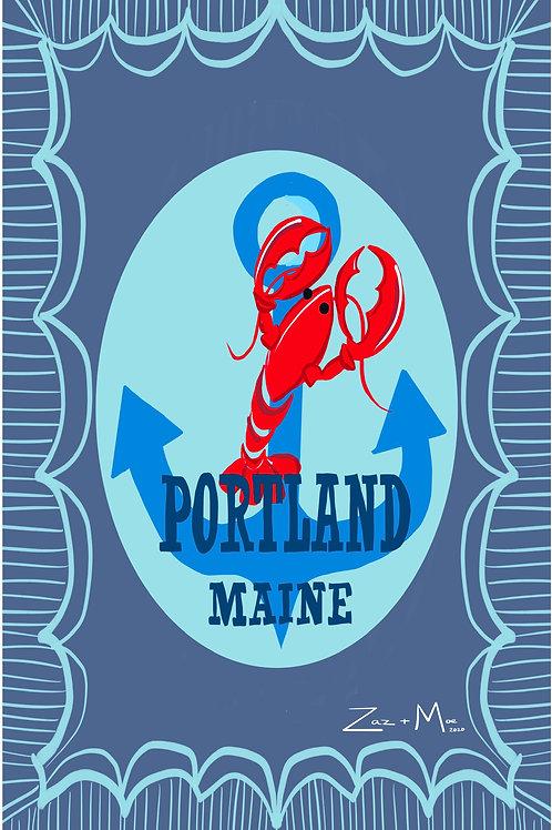 Portland Maine Paper Print