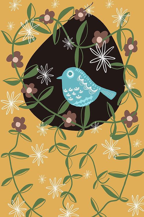Blue Bird Tea Towel