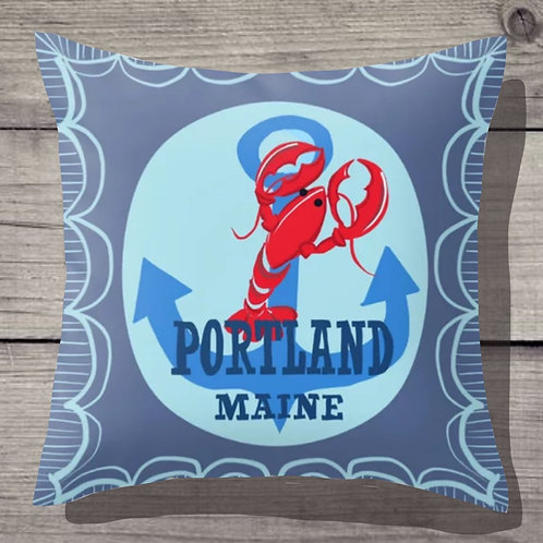 Portland Maine Pillow