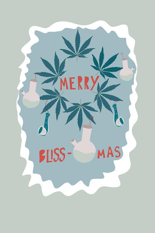 Merry Blissmas Paper Print