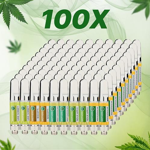 100x CBD Vape Cartridges
