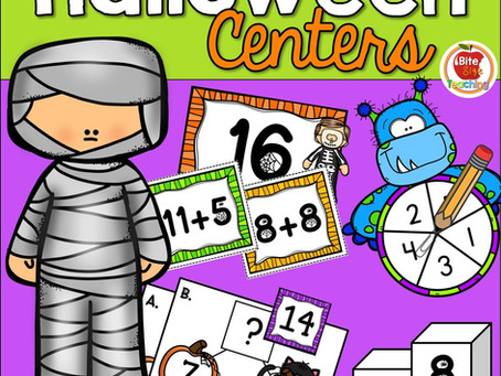 Halloween Math Centers: Holding Student Interest During October