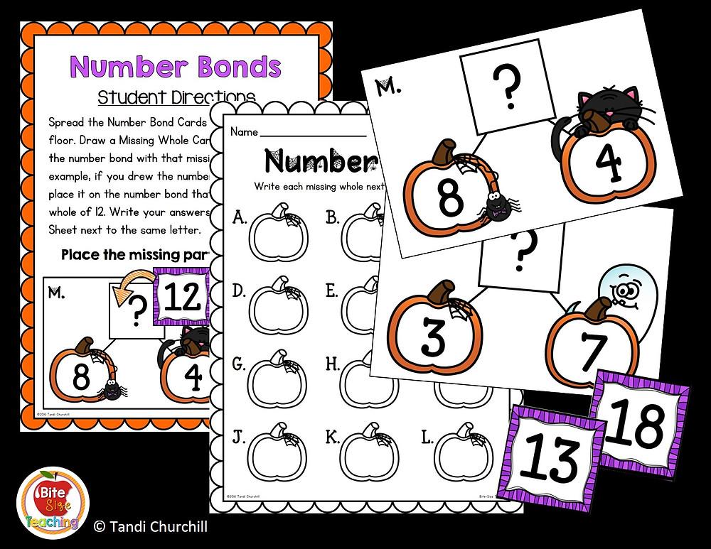 Halloween Number Bonds