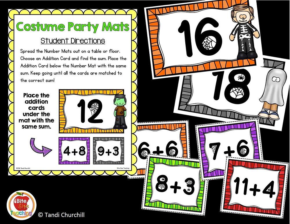 Halloween Math Mats