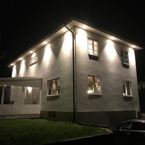 Projekt, Belysa takfot Villor i Spånga
