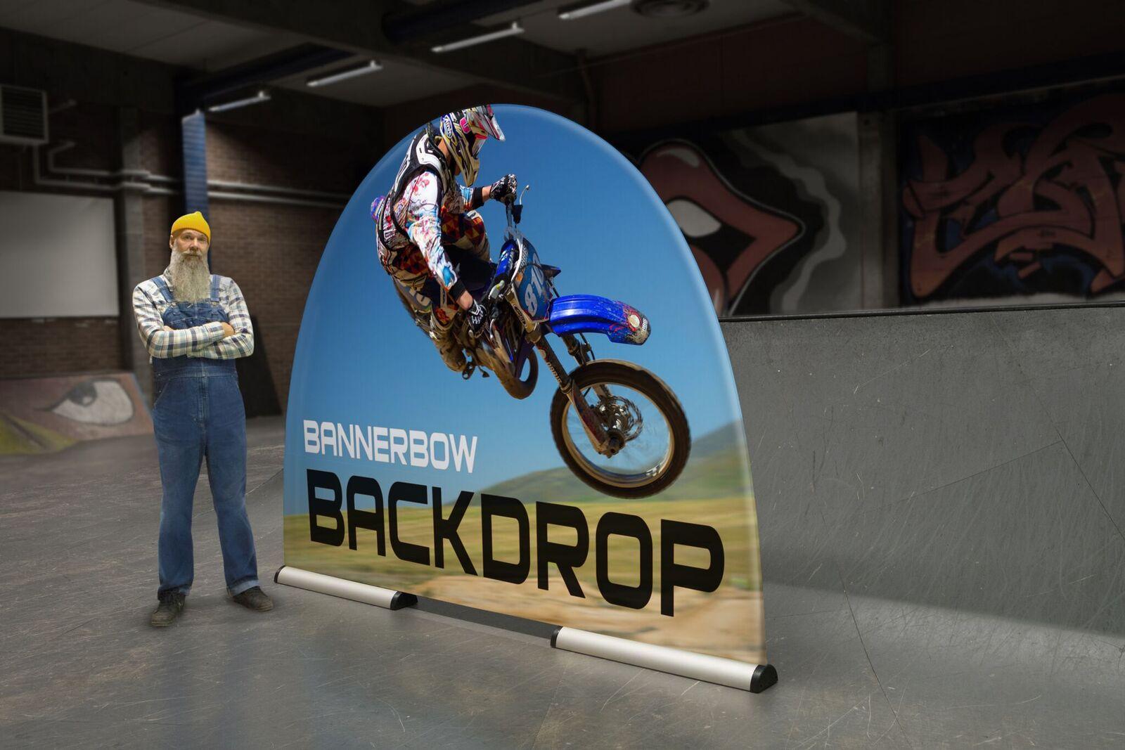 Backdrop Motorcross Werbefläche