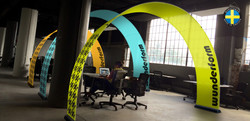 Bannerbow small in an office