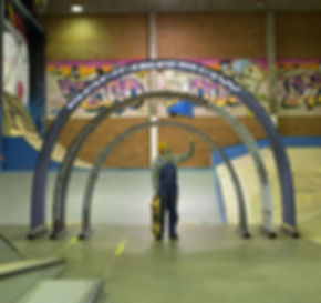 Event arch tunnel