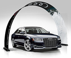 Bannerbow classic over audi a6