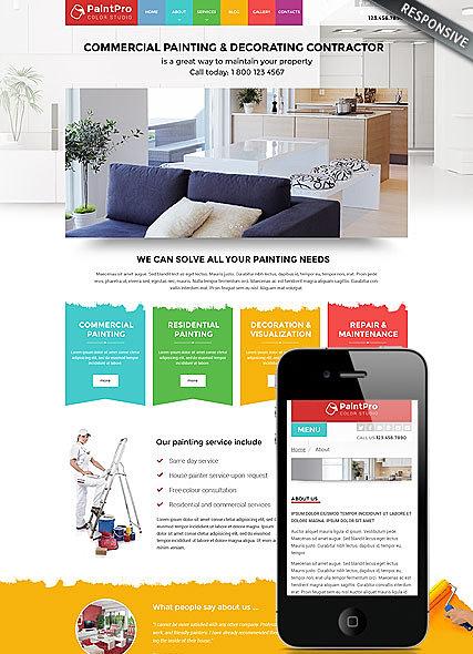 Painting Contractor Websites - Painter Websites | Website Design & SEO