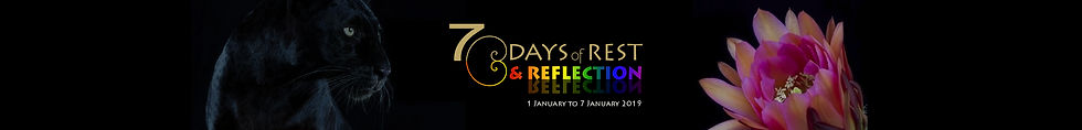 7 days of rest AND REFLECTION banner lon