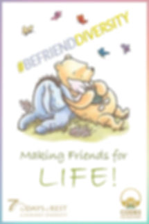 Befriend Pooh with lighter rainbow frame