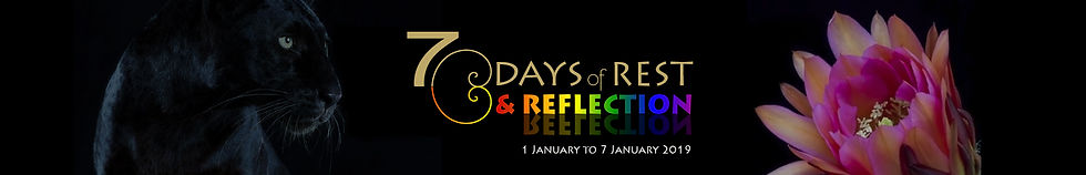 7 days of rest AND REFLECTION banner thi