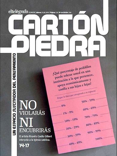 Censo. Ricardo Coello Gilbert. Cartón Piedra, El Telégrafo