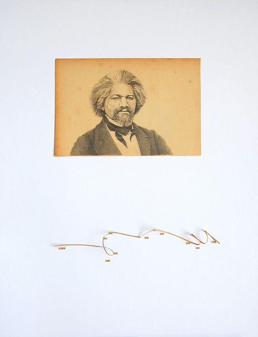 Frederick Douglass dibujo Ricardo Coello Gilbert Arte contemporáneo Ecuador Contemporary Art