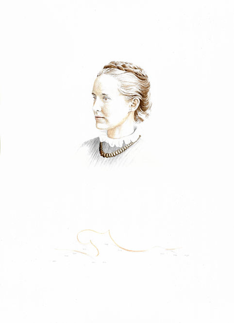 Millicent Fawcett dibujo Ricardo Coello Gilbert Arte contemporáneo Ecuador Contemporary Art