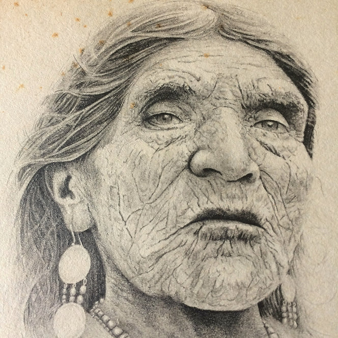 Dolores Cacuango dibujo Ricardo Coello Gilbert Arte contemporáneo Ecuador Contemporary Art